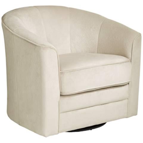 Keller Argos Muse Off White Swivel Chair X5006 Lamps Plus