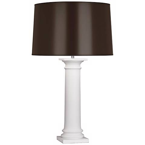 Robert Abbey Phoebe Matte White and Chocolate Table Lamp