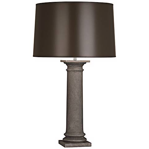 Phoebe Limestone and Taupe Robert Abbey Table Lamp