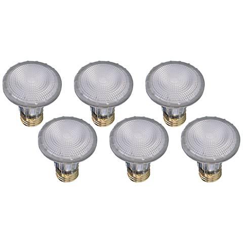 6-Pack 39 Watt Sylvania PAR20 Narrow Flood Capsylite Bulbs