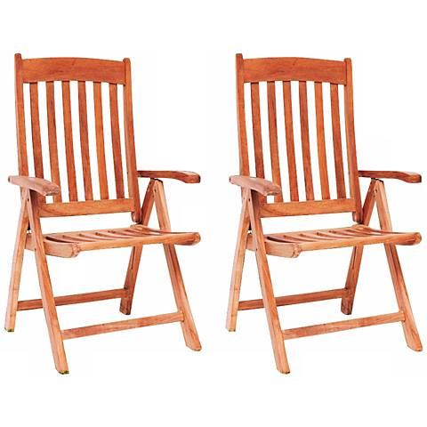 Teak Hever Outdoor Position Chairs Set of 2