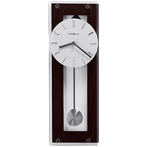 "Howard Miller Emmett 19"" High Wenge Wall Clock"