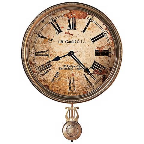 """Howard Miller J.H. Gould 21"""" High Brass Wall Clock"""