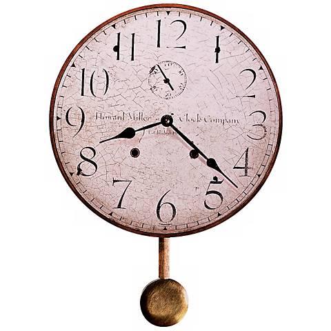 "Howard Miller Original II 13"" Wide Antique Wall Clock"