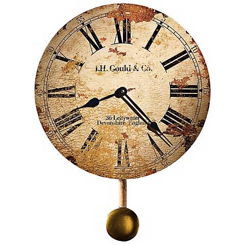 """Howard Miller J.H. Gould 13"""" High Antique Wall Clock"""