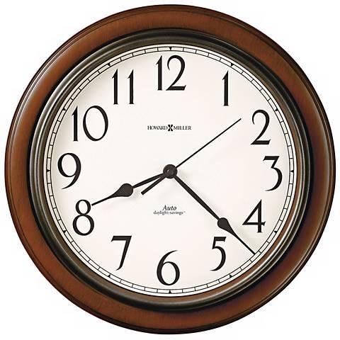 "Howard Miller Talon 15 1/4"" Wide Cherry Wall Clock"