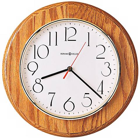 "Howard Miller Grantwood 11 1/2"" Wide Oak Wall Clock"