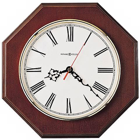 """Howard Miller Ridgewood 11 1/2"""" Wide Oak Wall Clock"""