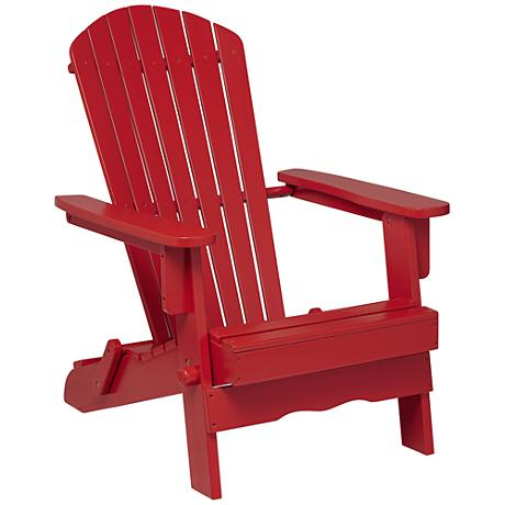 Monterey Red Wood Folding Adirondack Chair