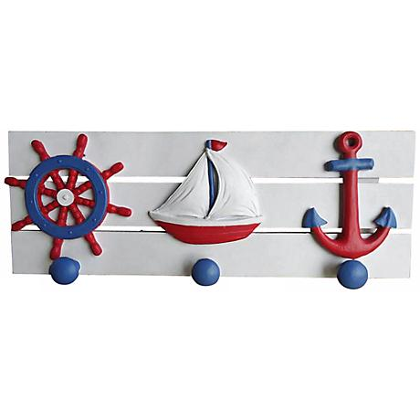 Judith Edwards Designs Hand-Painted Nautical Wall Pegs