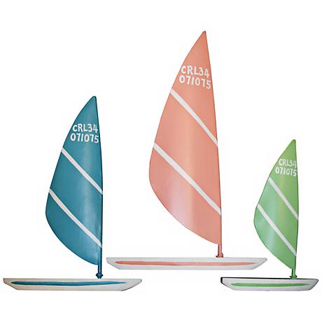 Judith Edwards Designs Set of 3 Colorful Sailboards
