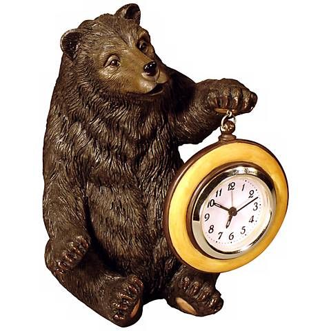 Judith Edwards Designs Hand-Painted Bear Table Clock