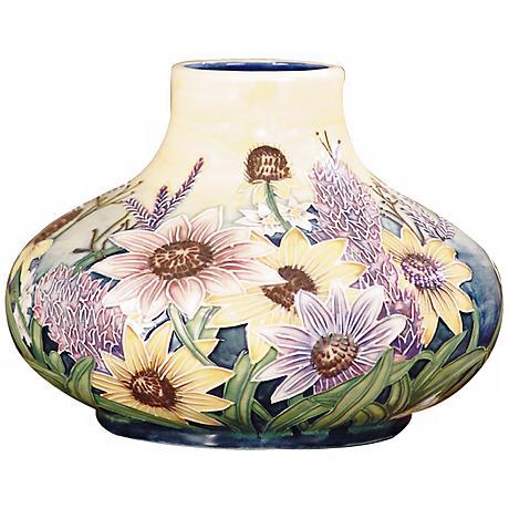 Dale Tiffany English Garden Floral Porcelain Gourd Vase