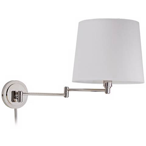 House of Troy Town House Nickel Swing Arm Wall Lamp