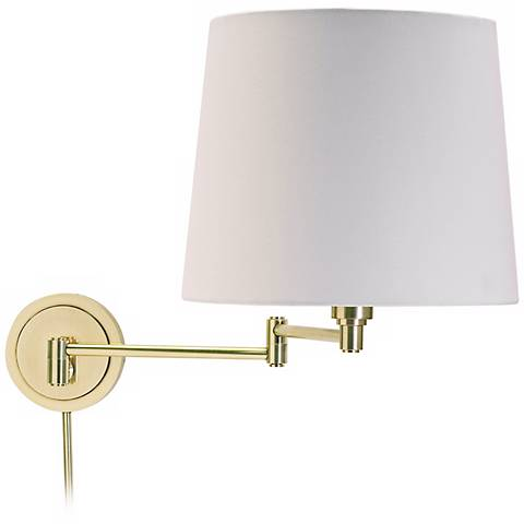 House of Troy Town House Raw Brass Swing Arm Wall Lamp
