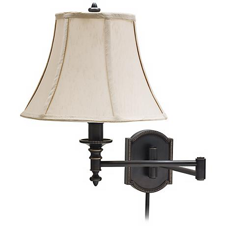 house of troy decorative bronze swing arm wall lamp. Black Bedroom Furniture Sets. Home Design Ideas