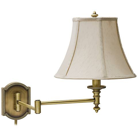 house of troy decorative brass swing arm wall lamp x5640 lamps plus. Black Bedroom Furniture Sets. Home Design Ideas