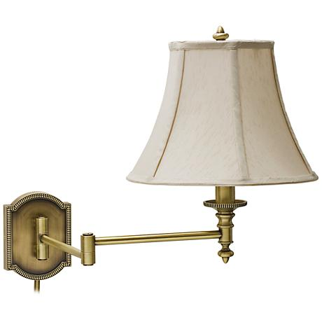 Wall Lamps Swing Arm Brass : House of Troy Decorative Brass Swing Arm Wall Lamp - #X5640 Lamps Plus