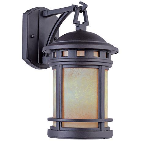 """Sedona 20"""" High Amber Glass Bronze Outdoor Wall Light"""