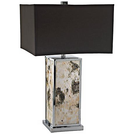Bark Wood Table Lamp