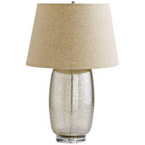 Vista Golden Glass Table Lamp