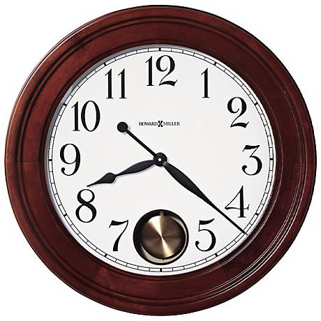 "Howard Miller Griffith 25"" Cherry Hardwood Wall Clock"
