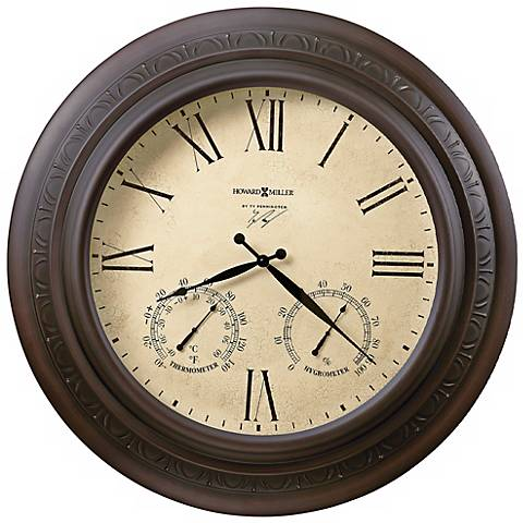 "Howard Miller Copper Harbor 28"" Outdoor Wall Clock"