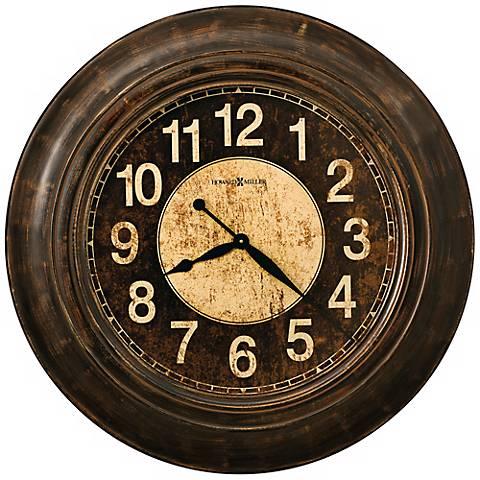 """Howard Miller Bozeman 34"""" Wide Gallery Wall Clock"""
