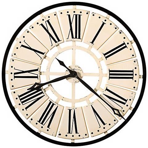 "Howard Miller Pierre 31 1/2"" Antique White Wall Clock"