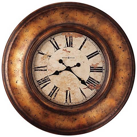 """Howard Miller Copper Bay 29 1/2"""" Wide Copper Wall Clock"""