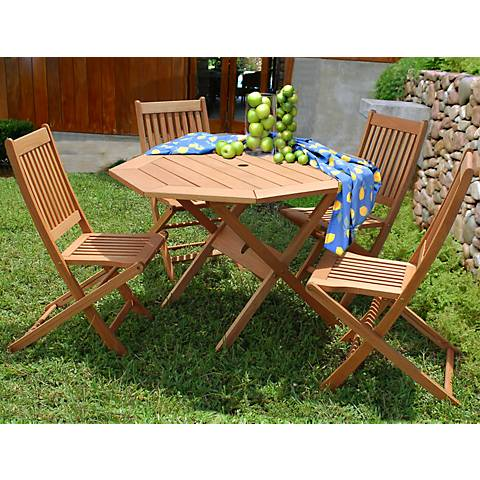 Forli Octagonal 5-Piece Outdoor Dining Set