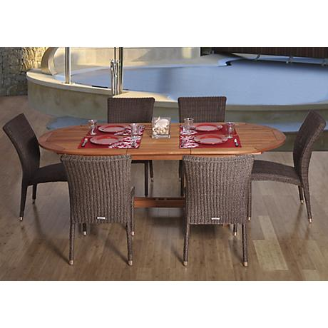 Amazonia Le Mans Extendable Oval 7-Piece Patio Dining Set