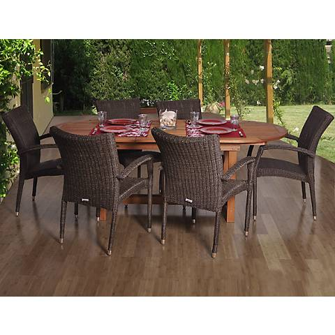 Santa Fe Deluxe Extendable 7-Piece Patio Dining Set