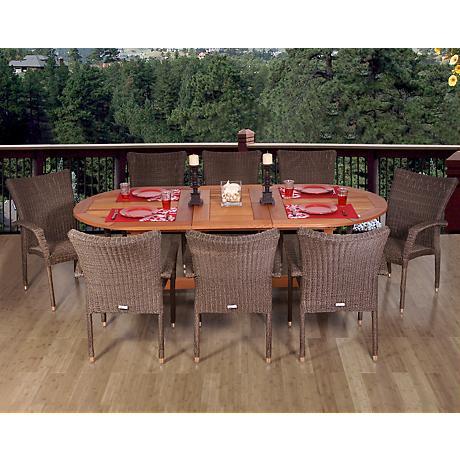 Amazonia Renaissance 9-Piece Extendable Oval Dining Set