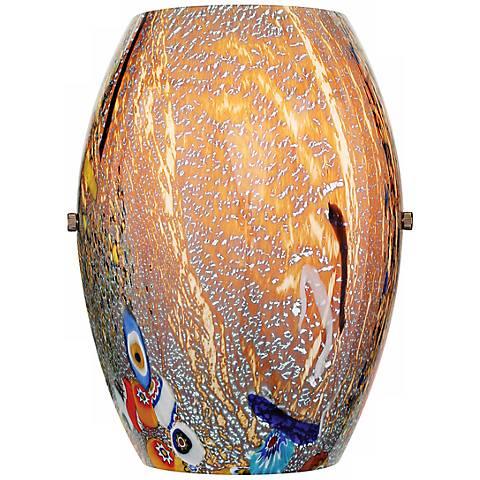 "LBL Monty Bronze Mocha Glass 9 1/2"" High Wall Sconce"