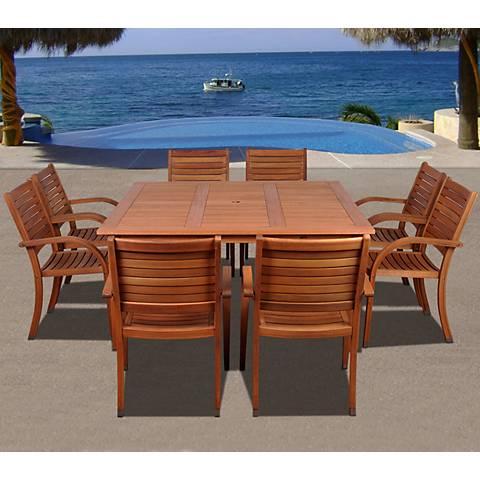 Cerrissa Eucalyptus 9-Piece Square Dining Set