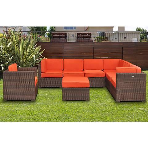 Pomerado 8-Piece Orange Outdoor Sectional