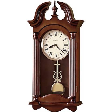 """Howard Miller Everett 26 1/4"""" High Chiming Wall Clock"""