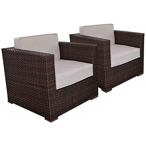 Genoa 2-Piece Off-White Outdoor Armchair