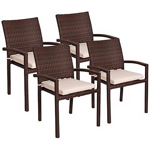 Atlantic Liberty Set of 4 Outdoor Armchairs