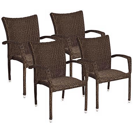 Atlantic Bari Set of 4 Armchairs
