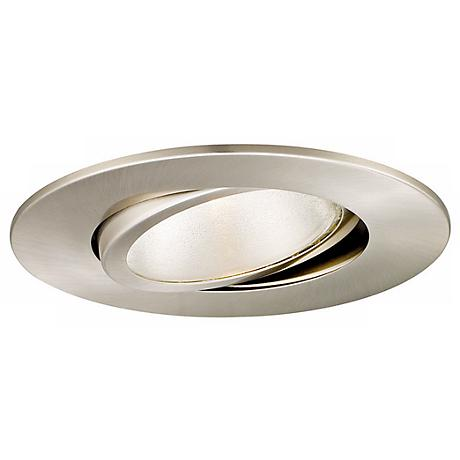 "WAC 5"" Line Voltage Brushed Nickel Recessed Gimbal Trim"