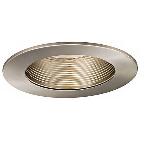 "WAC 5"" Brushed Nickel Baffle Recessed Light Trim"