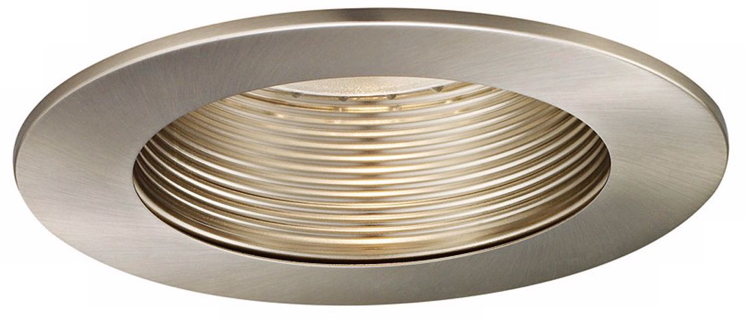 WAC 5  Brushed Nickel Baffle Recessed Light Trim  sc 1 st  L&s Plus & Recessed Lighting - Kitchen Bathroom Dining and Living Room Trim ... azcodes.com