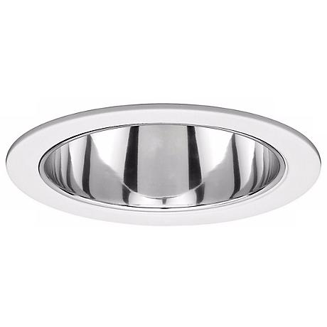 """WAC 6"""" Line Voltage Clear Reflector White Recessed Trim"""
