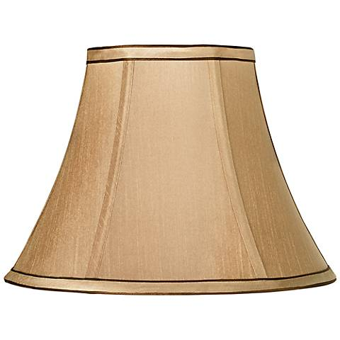 Springcrest™ Tan and Brown Trim Bell Shade 6x12x9 (Spider)