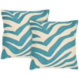 Set of 2 Safavieh Urban Spice Blue Throw Pillows