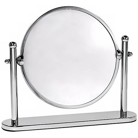 """Gatco Premier 10 1/2"""" Wide Chrome Table Mirror"""