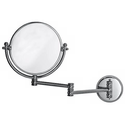 "Gatco 19 1/2"" Wide Chrome Swing Arm Wall Mirror"