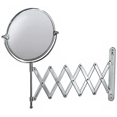 "Gatco 26 1/2"" Wide Chrome Accordion Wall Mirror"